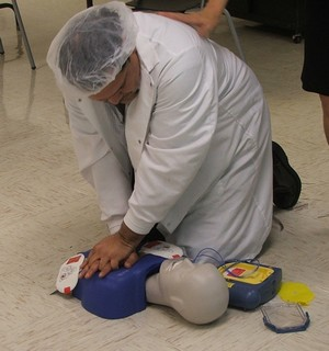CPR AED Being Performed on Manikin