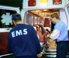 EMS Loads Victim of Sudden Cardiac Arrest